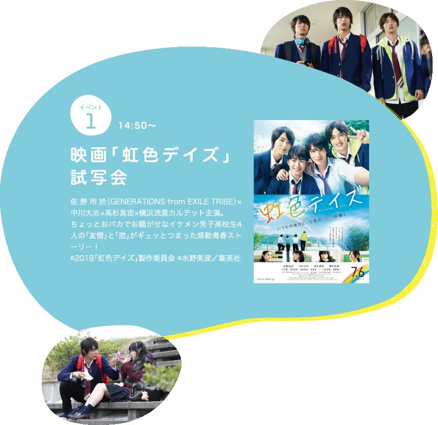 イベント1 映画「虹色デイズ」試写会